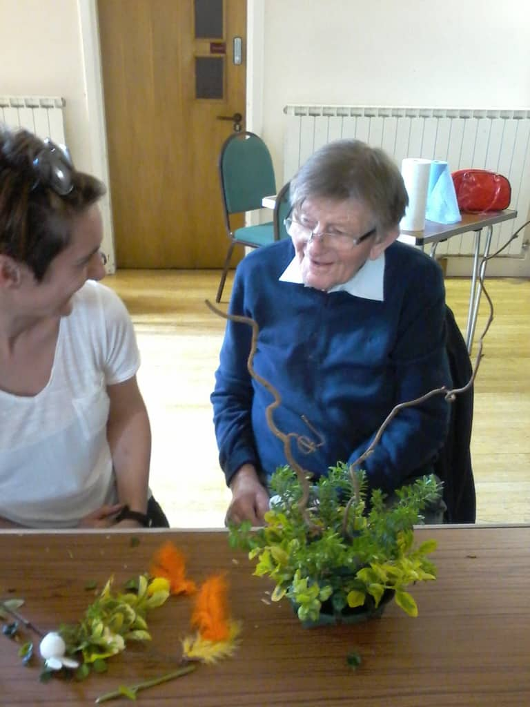 Dementia Cafe Flower Arranging at Trinity Centre Louth