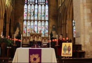 Holy Communion on the fourth Sunday of Advent