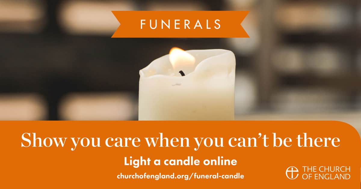 Light a candle for a funeral