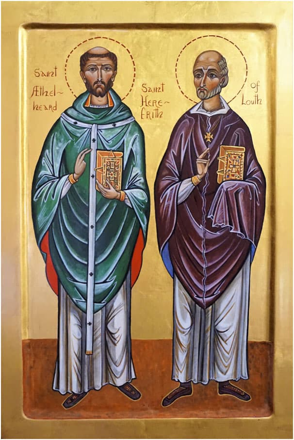 Icon Saints Aethelheard and Herefrith