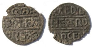 Coin with the title OFFA REX