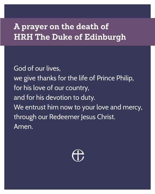 Prayer for Prince Phillip